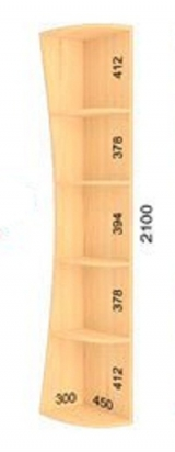 Консоль (радиусная) 300х450х2100