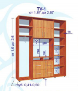 """Шкаф-купе """"TV-1"""" 2000х2400 (глубина 500)"""